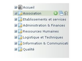 Les pages de l'extranet