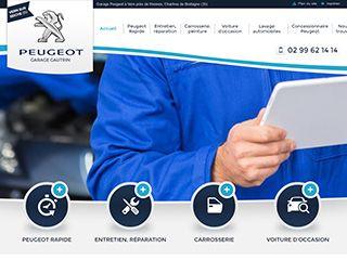 Cr ation de site internet pour garage automobile webgazelle - Garage peugeot sourget rennes ...