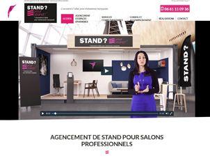 Cr ation de site internet agencement de stand v nementiel for Stand evenementiel salon