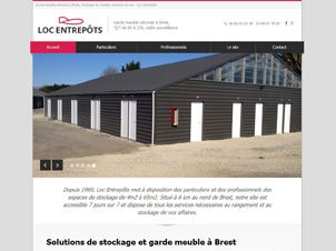 Cr ation de site internet pour garde meuble webgazelle for Garde meuble brest